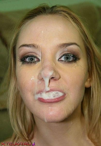 Подборка любительских снимков няшек со кончёй на лице