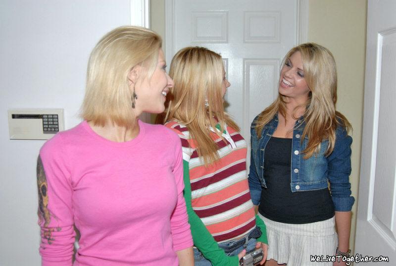 Кошечки Sindee Jennings, Marlie Moore и Nikki LaMotta обожают возбуждать пилотки друг дружки